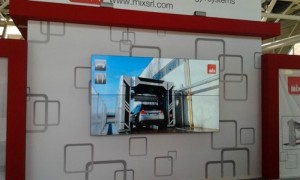 Videowall a monitor Bensotech vista frontale
