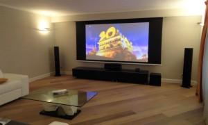 Sala Home Cinema realizzata in abitazione privata a Genova