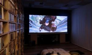 Sala home cinema con Epson LS10000 Roma Bensotech