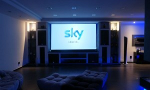 Filmato sala home cinema full hd