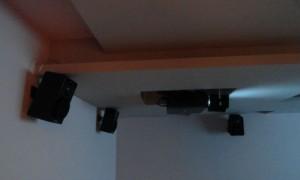 Videoproiettore Panasonic e surround Yamaha