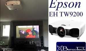 home cinema in living room with Epson