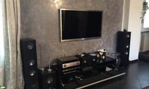 home cinema in living room and TV