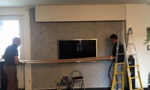 home cinema in salotto inizio lavori